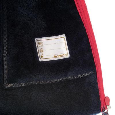 Saco polar con cremallera y capucha de excursionismo niña Warm Azul marino