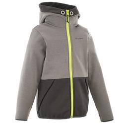 Wandelfleece voor jongens Hike 550 grijs
