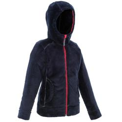 Fleecejacke Winterwandern SH100 Warm Kinder blau