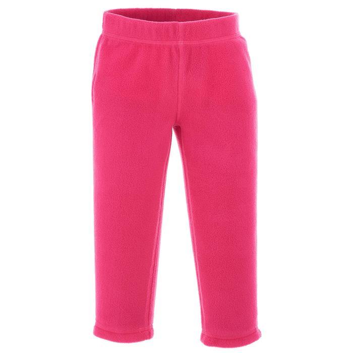Kids' Fleece Hiking Pants MH100 2-6 Years - Pink