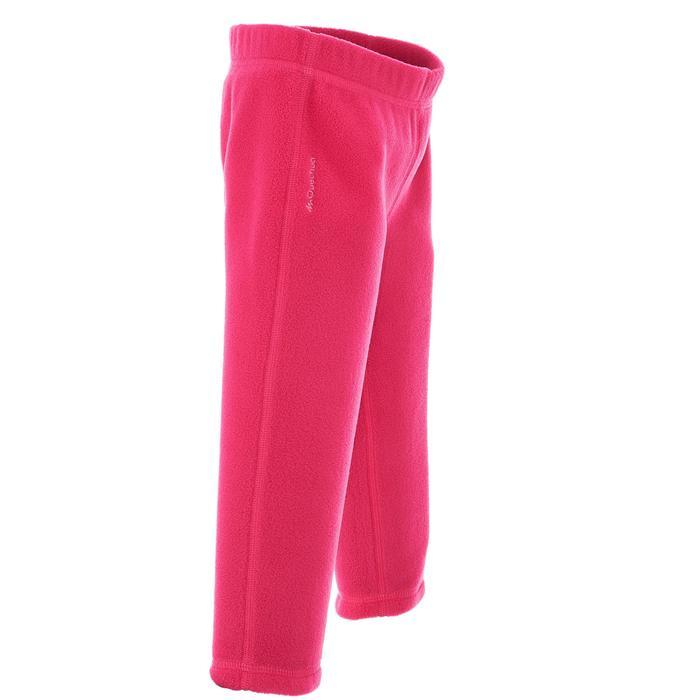 健行刷毛長褲 MH 100-粉紅色