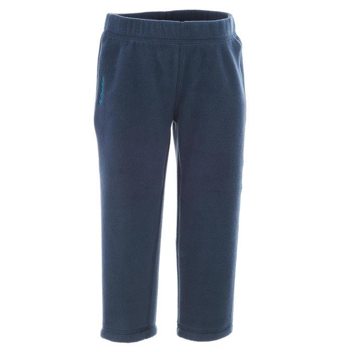 健行刷毛長褲 MH 100-軍藍色