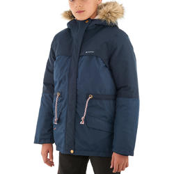 Warme en waterdichte meisjesjas voor trekking XX Warm - 1008373