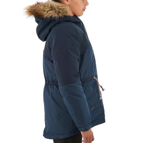 XX Warm Girls&39 Hiking Warm Waterproof Jacket - Navy | Quechua