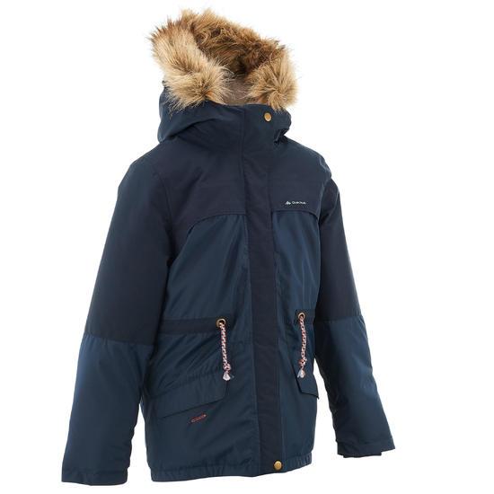 Warme en waterdichte meisjesjas voor trekking XX Warm - 1008408