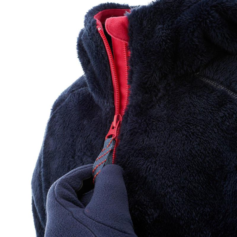 Chaqueta polar de excursión Niña Hoodie Warm azul marino