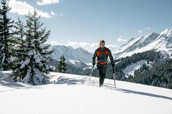 Heren softshell jas voor trekking WindWarm 800 Hybrid - 1008560
