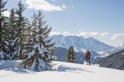 Heren softshell jas voor trekking WindWarm 800 Hybrid - 1008574