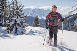 Heren softshell jas voor trekking WindWarm 800 Hybrid - 1008622