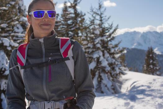 Veste trekking WindWarm 300 softshell femme grise - 1008695