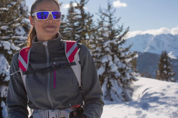 Veste trekking WindWarm 300 softshell femme grise