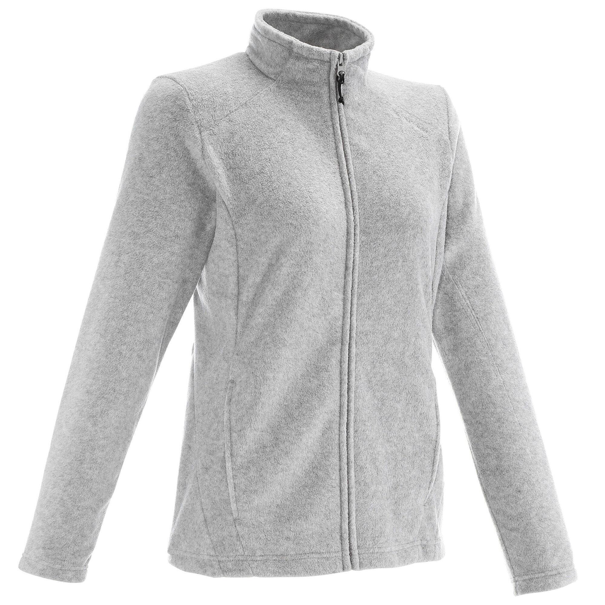 Forclaz 200 Women's mountain hiking fleece - Mottled Grey