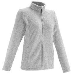 Forclaz 200 Women's mountain hiking fleece - Mottled Grey