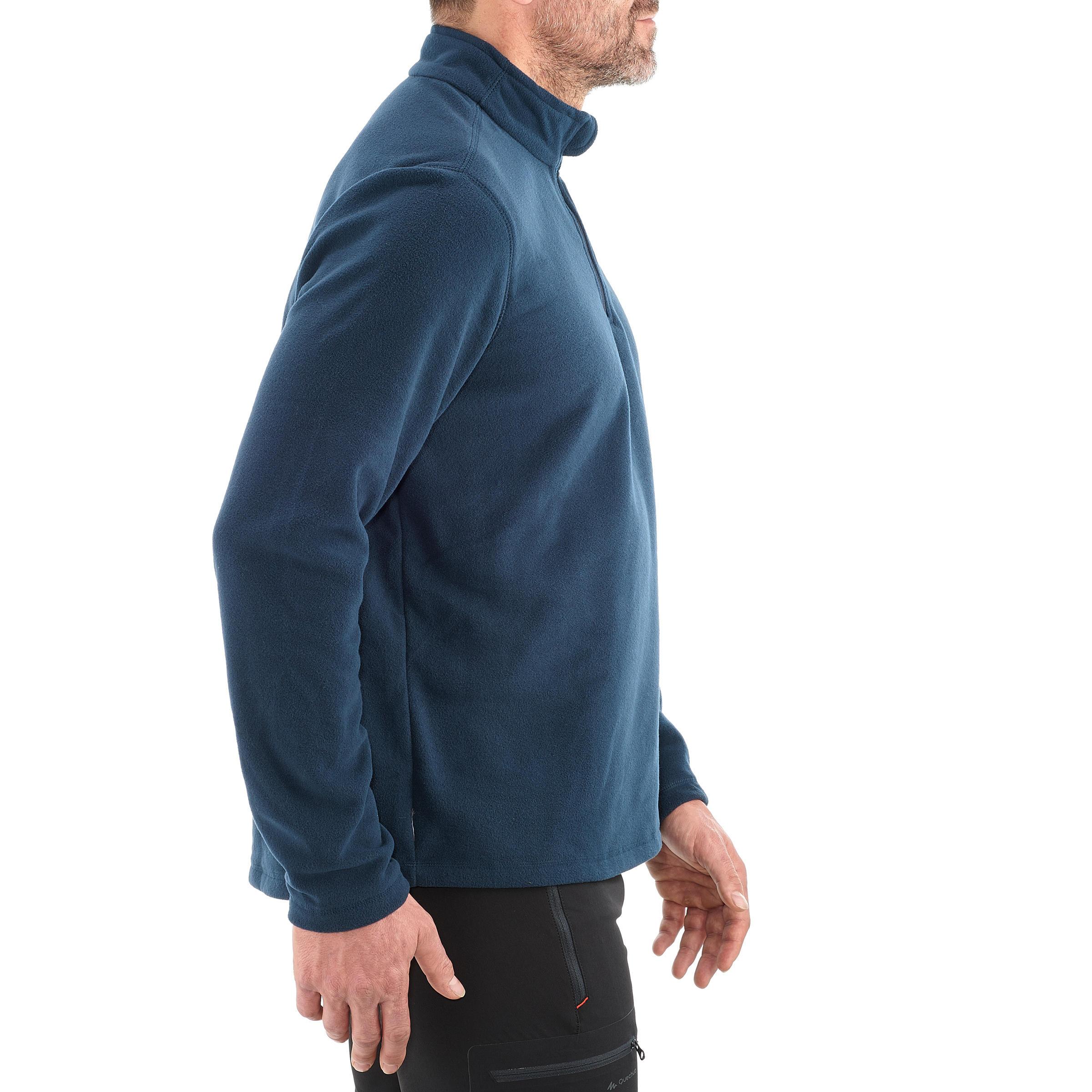 venta directa de fábrica captura variedad de diseños y colores Sudadera polar campamento caballero Forclaz 50 azul marino