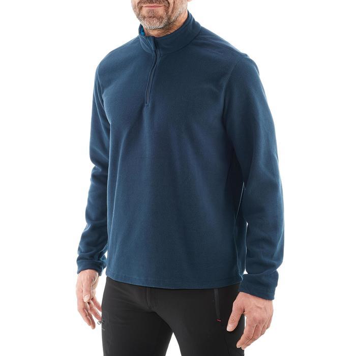 Forro polar senderismo en montaña hombre Forclaz 50 azul marino