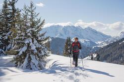 Heren softshell jas voor trekking WindWarm 800 Hybrid - 1008782