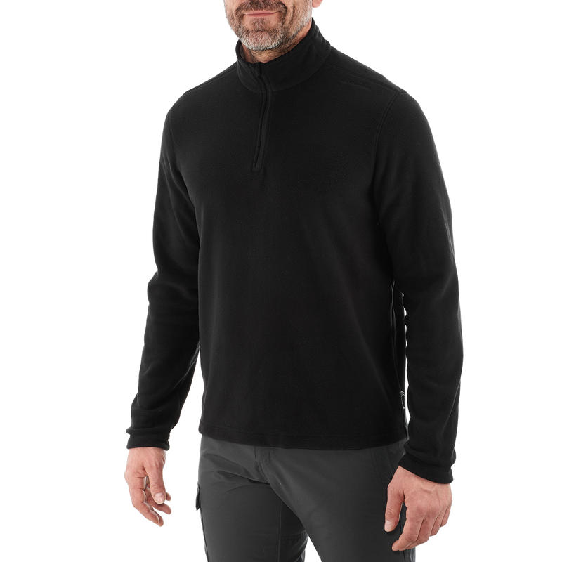 Forclaz 50 Men's Mountain Hiking Fleece - Black