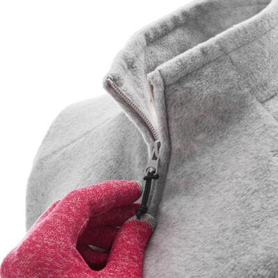 Women's MH120 mottled grey mountain hiking fleece jacket