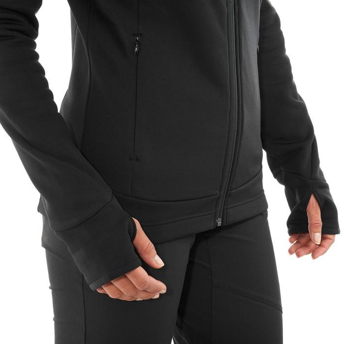 Damesfleece voor wandelen Forclaz 400 stretch zwart