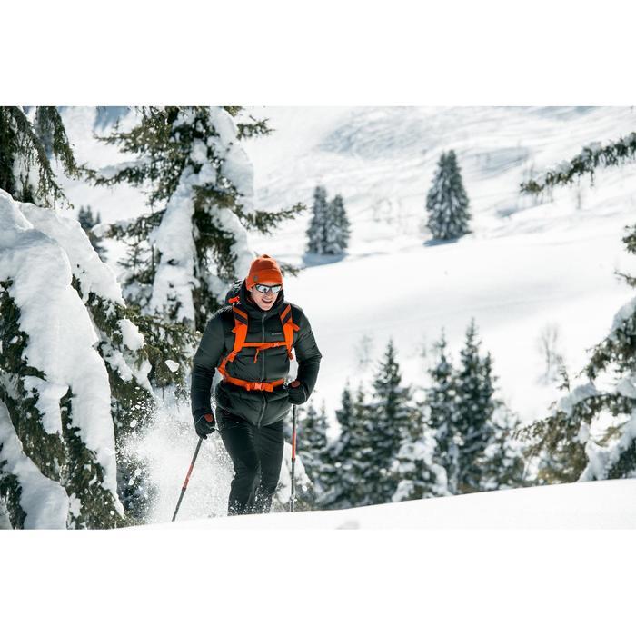 Gewatteerde jas voor bergtrekking Trek 900 warm heren zwart