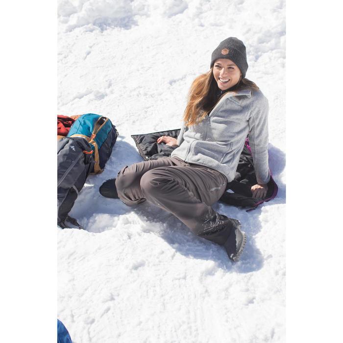 Fleece damesvest voor bergwandelen MH120 gemêleerd grijs