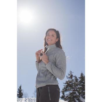 Fleece damesvest voor bergtochten Forclaz 200 blauw emboss