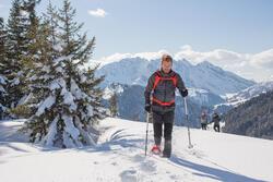 Heren softshell jas voor trekking WindWarm 800 Hybrid - 1008975
