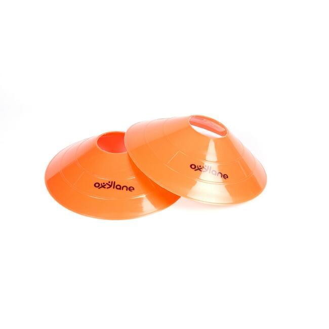 Saucer cones orange pack of 6