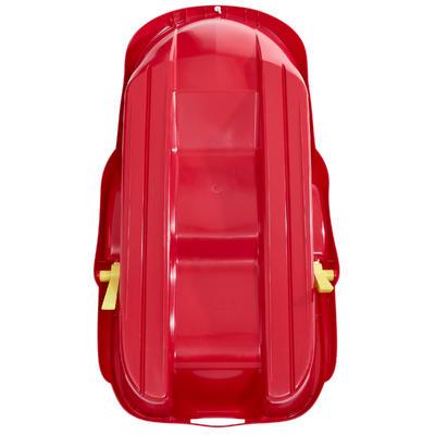 Trineo de 2 puestos con frenos MRZ 100 rojo