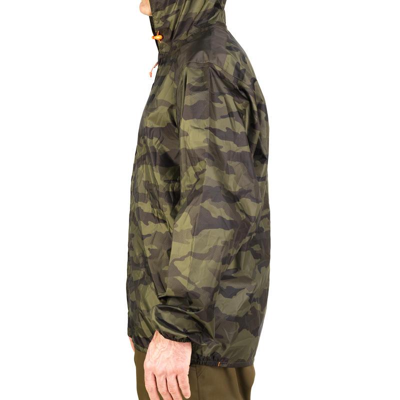 เสื้อแจ็คเก็ตกันน้ำสำหรับส่องสัตว์รุ่น LIGHT 100 (ลายพราง)