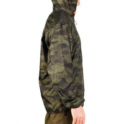 VESTE CHASSE IMPERMEABLE LIGHT 100 CAMOUFLAGE