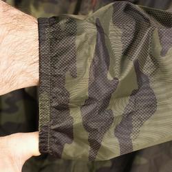 Chaqueta Caza Solognac 100 Impermeable Ligero Camuflaje Militar Verde