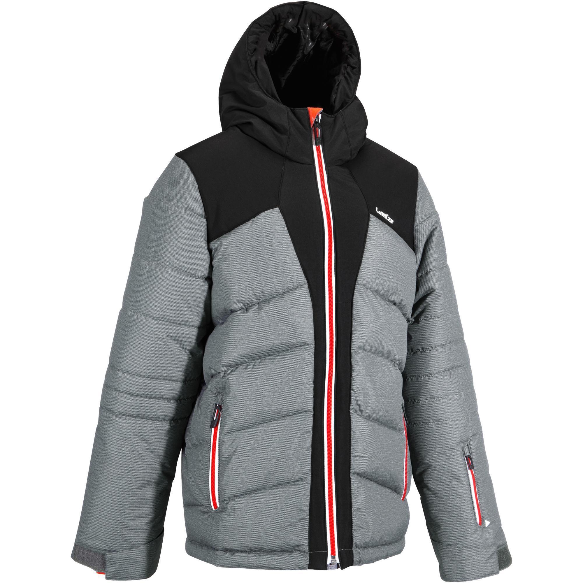 Jungen,Kinder Skijacke Daunen Ski-P JKT 500 Warm Kinder Jungen grau | 03608449899451