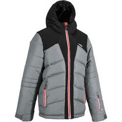 男童保暖滑雪羽絨外套Ski-P Jkt 500 - 灰色