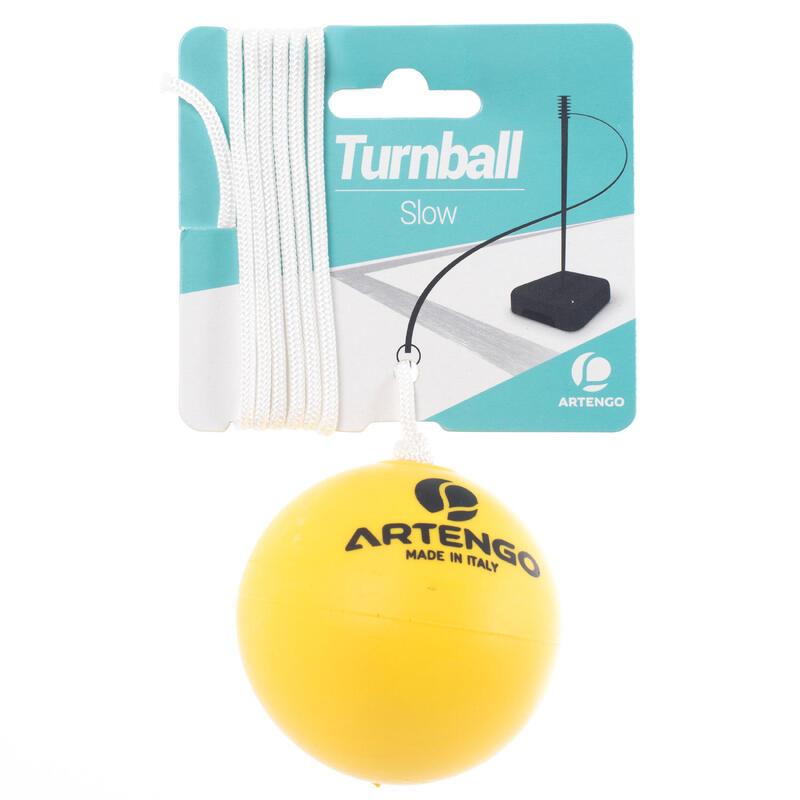 Turnbola, spīdbola lēna putu bumba, dzeltena