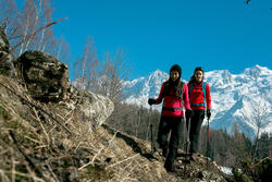 Dames T-shirt met lange mouwen voor trekking Forclaz 100 Warm - 1009868