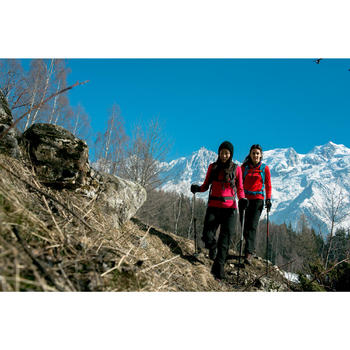 T-shirt voor wandelen in de sneeuw dames SH100 warm - 1009868