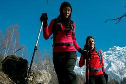 Dames T-shirt met lange mouwen voor trekking Forclaz 100 Warm - 1009930
