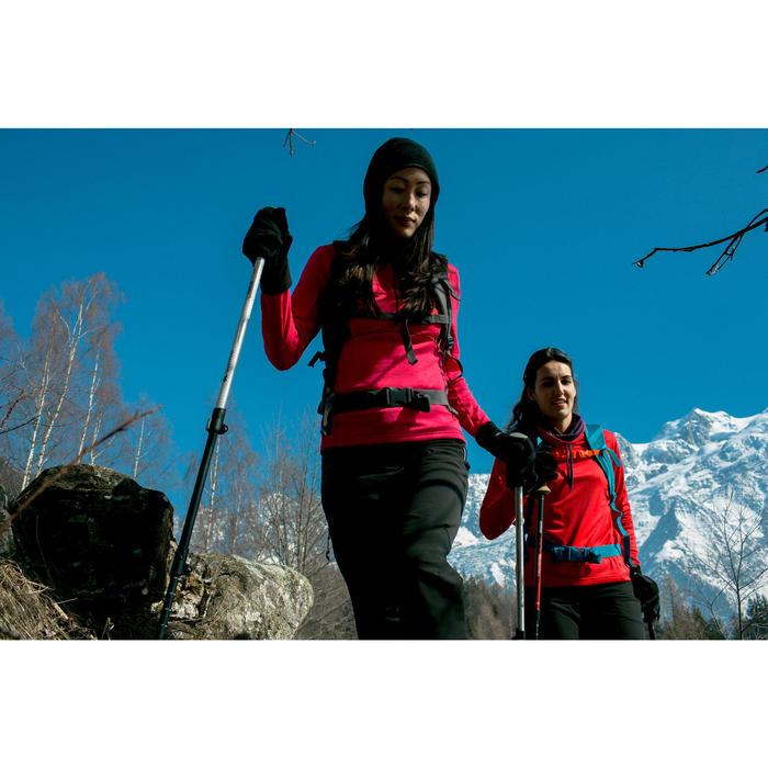Dames T-shirt met lange mouwen voor wandelen in de sneeuw SH100 warm paars