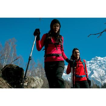T-shirt lange mouwen wandelen in de sneeuw dames SH500 Active warm ceramic blue - 1009930