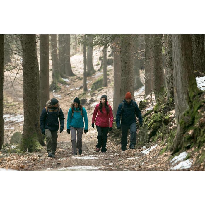 3-in-1 damesjas voor trekking Rainwarm 100 zwart