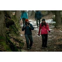 Winterjacke Winterwandern SH100 Warm Damen violett