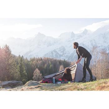 Black mountain trekking tights man TECHWOOL190