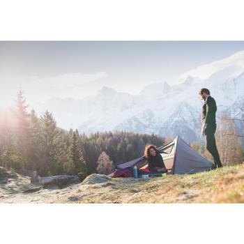 T- Shirt manches longues trekking Techwool 190 zip homme - 1010093