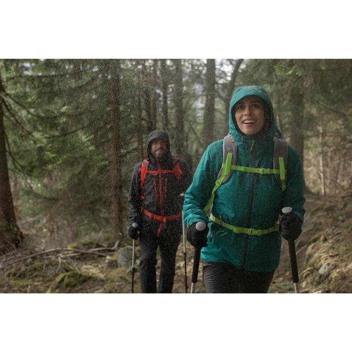 Chaqueta trekking Rainwarm 500 3 en 1 mujer negro