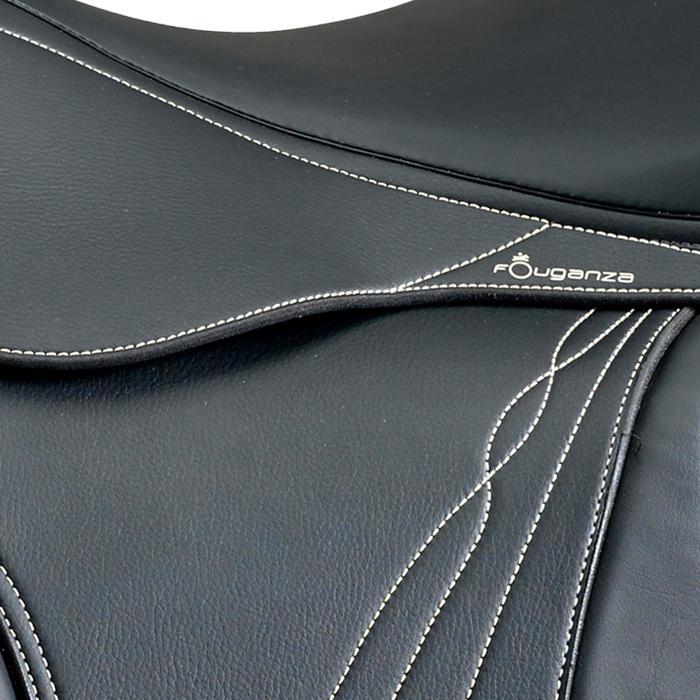"""Synthetisch veelzijdigheidszadel met verstelbare zadelboog paard Ride zwart 17""""5"""