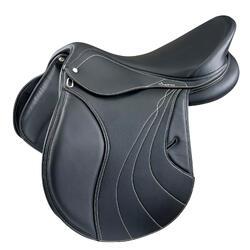"""Veelzijdigheidszadel met verstelbare zadelboog paard Ride zwart 17""""5"""