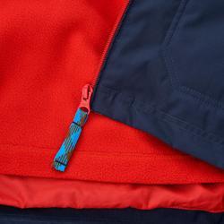 Warme en waterdichte 3-in-1 jongensjas voor trekking Hike 500 - 1010345