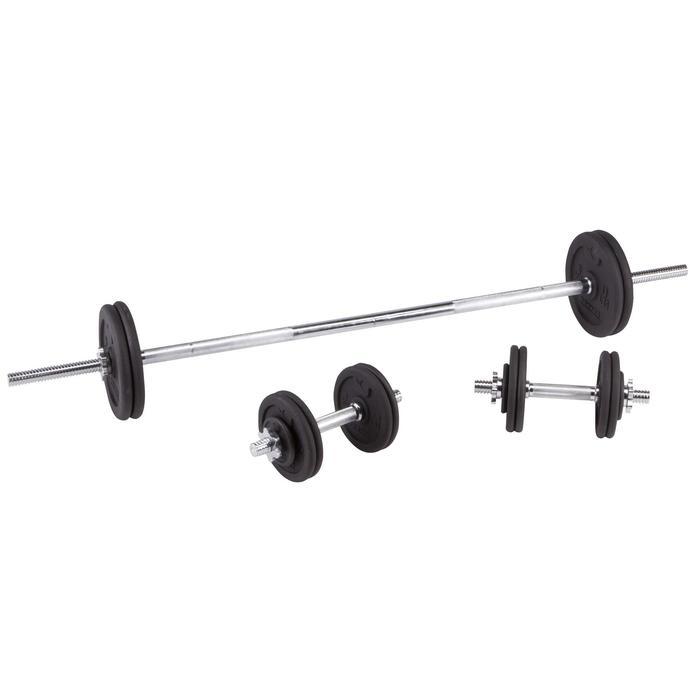 Kit haltères et barres musculation kit 50 kg - 101063
