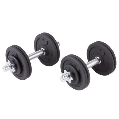 Kit haltères et barres musculation kit 50 kg